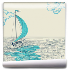 Fototapeta - Sailing vector background