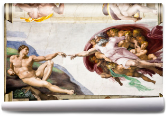 Fototapeta - Creation of Adam by Michelangelo, Sistine Chapel, Rome