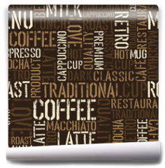 Fototapeta - Seamless coffee experience pattern. Vector, EPS8.
