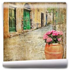 Fototapeta - charming old streets of mediterranean