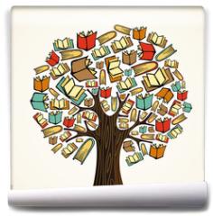 Fototapeta - Education concept tree with books