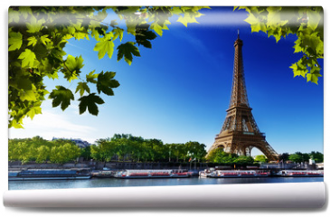 Fototapeta - Seine in Paris with Eiffel tower