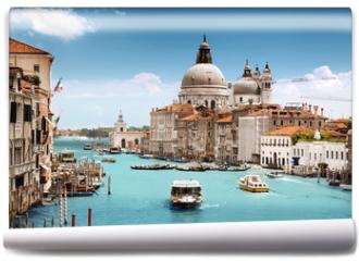 Fototapeta - Grand Canal and Basilica Santa Maria della Salute, Venice, Italy