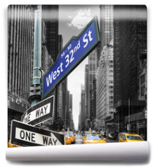 Fototapeta - Taxis à New York.