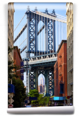 Fototapeta - Manhattan Bridge and Empire State Building, New York
