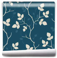 Fototapeta - Wallpaper with leaves. Seamless pattern