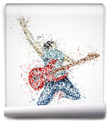 Fototapeta - Abstract guitarist