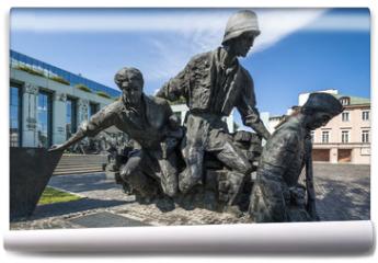 Fototapeta - Warsaw Uprising Monument in Warsaw - closeup