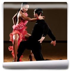 Fototapeta - latino dance couple in action