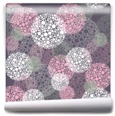 Fototapeta - Abstract seamless polka dot circles pattern