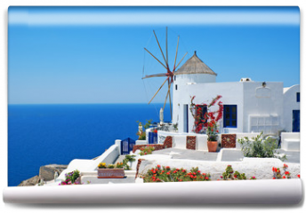 Fototapeta - Traditional architecture of Oia village at Santorini island in G