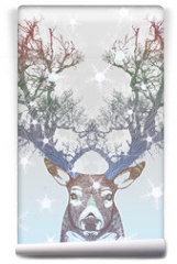 Fototapeta - Frozen tree horn deer