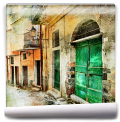 Fototapeta - pictorial old streets of Italy