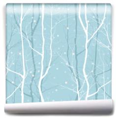 Fototapeta - trees seamless