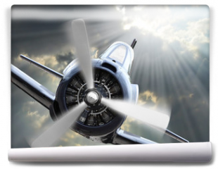 Fototapeta - The Fighter. Retro technology theme.