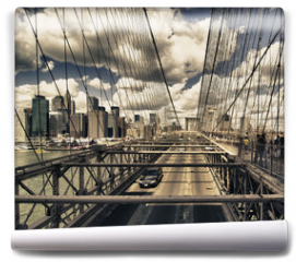 Fototapeta - Brooklyn Bridge view, New York City