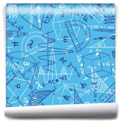 Fototapeta - Mathematics seamless pattern