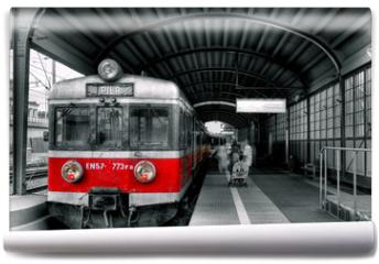 Fototapeta - red train
