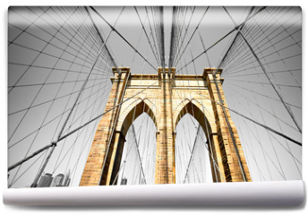 Fototapeta - The Brooklyn bridge, New York City. USA.