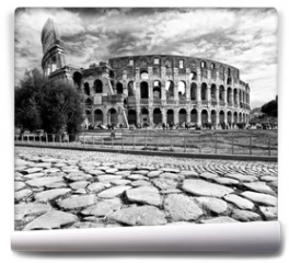 Fototapeta - The Majestic Coliseum, Rome, Italy.