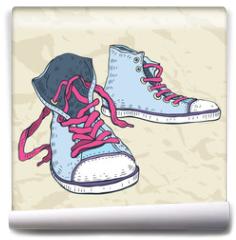 Fototapeta - Sport shoes. Sneakers.