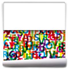 Fototapeta - Vector Abstract Colour Alphabet