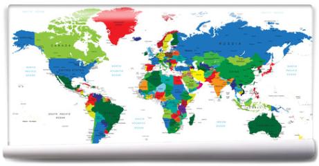 Fototapeta - World map-countries
