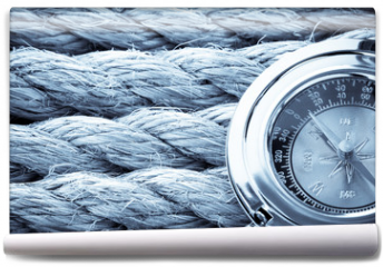 Fototapeta - ropes and compass