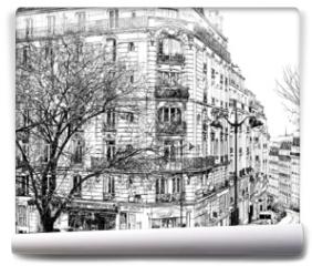 Fototapeta - Paris under the first winter snow