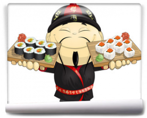 Fototapeta - cook of sushi