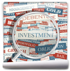 Fototapeta - INVESTMENT. Word cloud concept illustration.