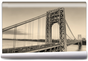 Fototapeta - George Washington Bridge black and white
