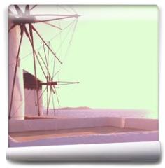 Fototapeta - moulin en grèce