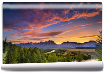 Fototapeta - Summer Sunset at Snake River Overlook