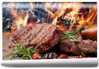 Fototapeta - gegrilltes Steak vom Rind