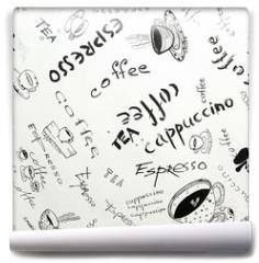 Fototapeta - Drawing ink sketch of coffee (square)