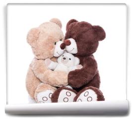 Fototapeta - Teddybären - Familie mit Mutter, Vater und Kind