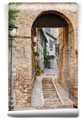 Fototapeta - ancient alley in Bevagna, Italy