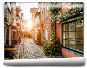 Fototapeta - Historic Schnoorviertel at sunset in Bremen, Germany