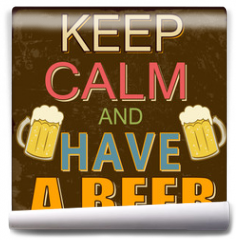 Fototapeta - Keep calm and have a beer poster