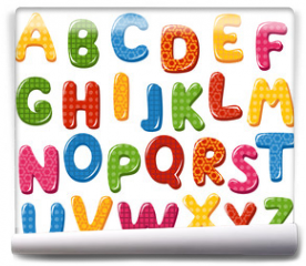 Fototapeta - Colorful alphabet letters