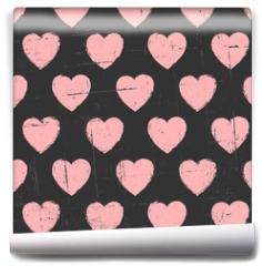 Fototapeta - Chalkboard Hearts Pattern