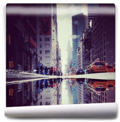 Fototapeta - Lexington Avenue Puddle Upside Down