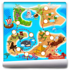 Fototapeta - Pirate Treasure Map
