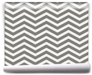 Fototapeta - Gray and White Zigzag Textured Fabric Background