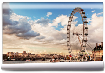 Fototapeta - London, England the UK skyline. The River Thames