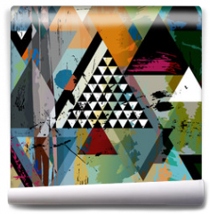 Fototapeta - abstract art illustration, triangles,vector format