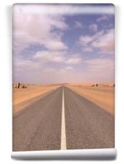 Fototapeta - strada nel deserto