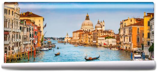 Fototapeta - Canal Grande panorama at sunset, Venice, Italy