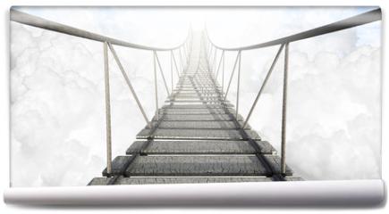 Fototapeta - Rope Bridge Above The Clouds